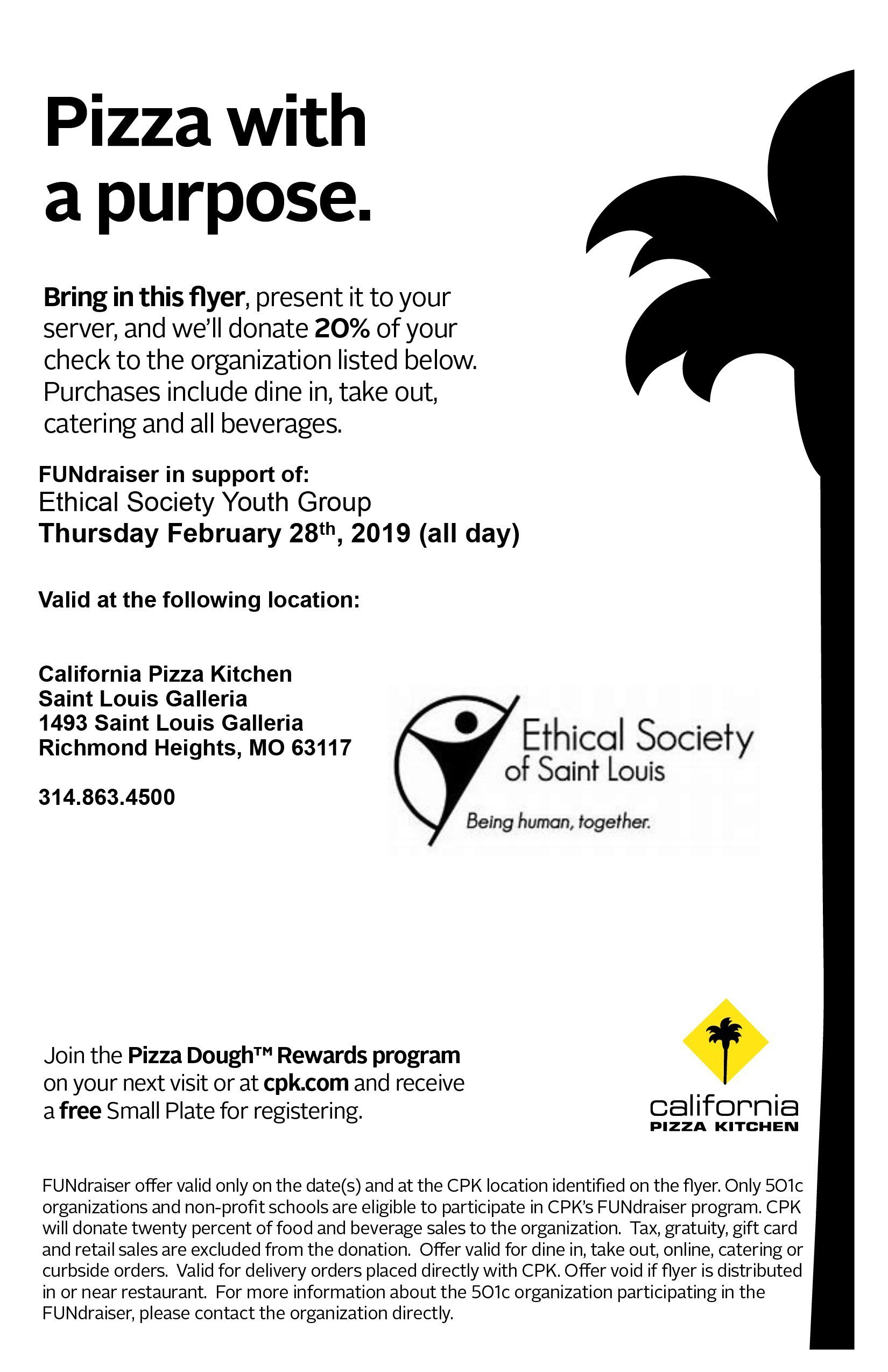 YG Fundraiser at CPK